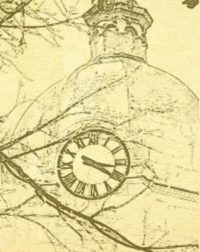faded image of tower clock
